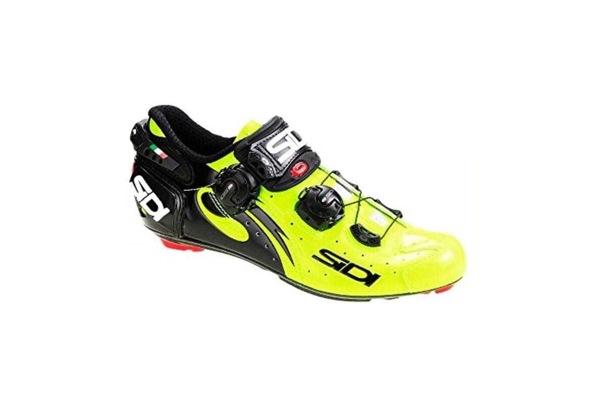 de4eda51d2 Sidi Wire Carbon Vernice országúti kerékpáros cipő, 42, neonsárga-fekete