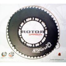 rotor qarbon ovális 110/5 bcd 52t fekete karbon-aluminium lánckerék