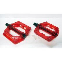 wellgo műanyag átlátszó piros platform pedál