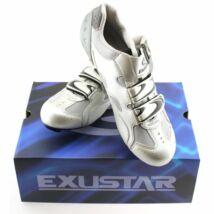 Exustar E-SR221 országúti kerékpáros cipő, 42, ezüst