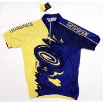 blacky sárga lila rövidujjú kerékpáros mez