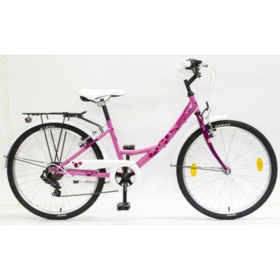 """csepel flora 24"""" pink gyerek kerékpár"""