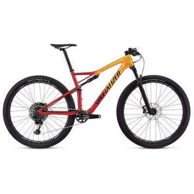 specialized epic expert carbon 29er összteleszkópos mtb kerékpár arany-piros