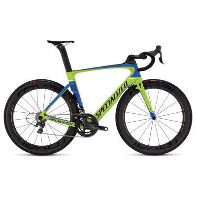 Specialaized Venge Pro Vias Carbon Dura-Ace 2x11 sebességes országúti kerékpár, 58cm, zöld-kék