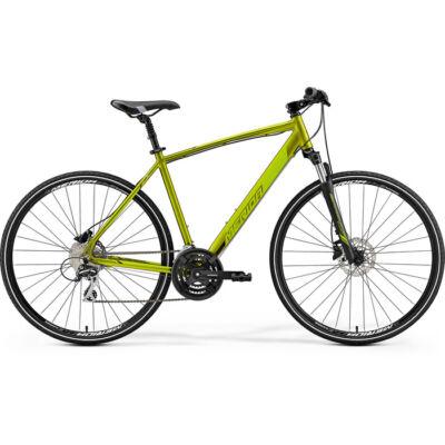 Merida Crossway 20-D crosstrekking/fitness kerékpár, 3x8 sebességes, S-es méret, olivazöld