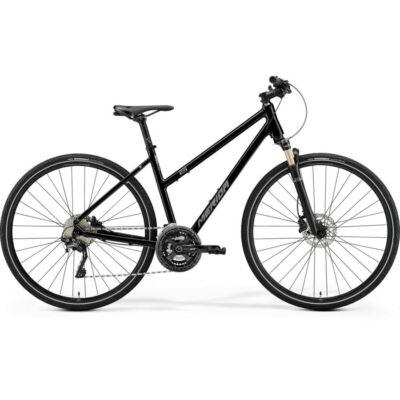 Merida Crossway XT-Edition női cross kerékpár, S-es, fényes fekete (matt ezüst)