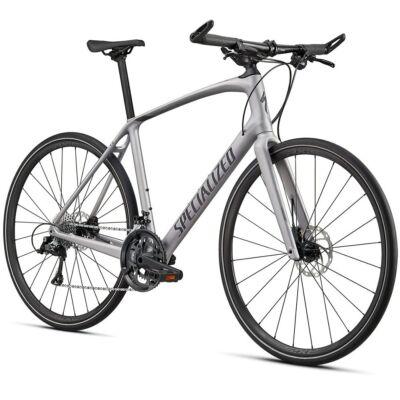 Specialized Sirrus 4.0 Carbon Shimano Sora fitness kerékpár, L-es, ezüst