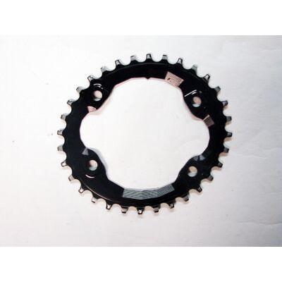 absoluteblack oval xt m8000 96bcd 32t narrow wide fekete lánckerék használt