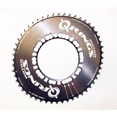 rotor qring ovális 110/5 bcd 52t fekete használt aluminium lánckerék