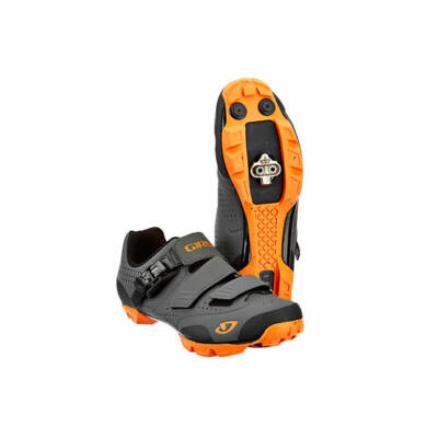 Giro Privateer R kerékpáros MTB cipő, 44, fekete narancssárga