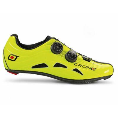 Crono Futura 2 országúti kerékpáros cipő, 39, fluo sárga