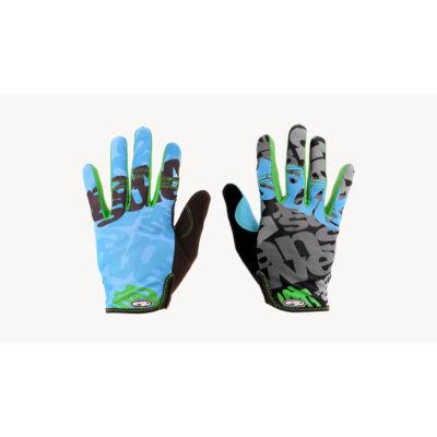 answer clash hosszú ujjú terepkék-zöld kerékpáros kesztyű