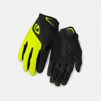 giro bravo lf gel fekete-neonsárga hosszú ujjú kesztyű