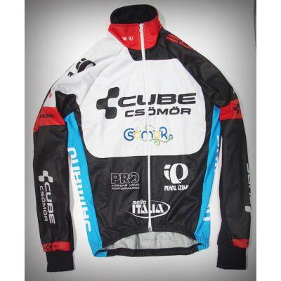 top bikewear szélálló thermo kerékpáros hosszú ujjú mez team design