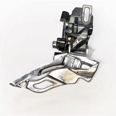 Shimano SLX FD-M671-A 3x10 sebességes direct mount felülhúzós első váltó, használt
