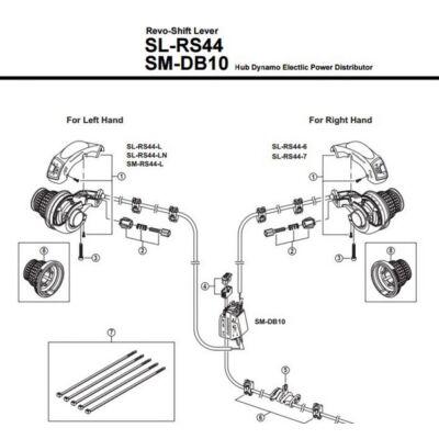 shimano sl-rs44 markolat váltókar