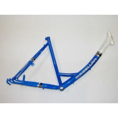 magellan cygnus mono 46cm 26 kék-fehér acél női túra kerékpár váz